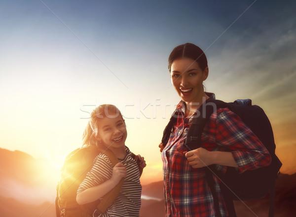 Mother and child enjoying journey Stock photo © choreograph