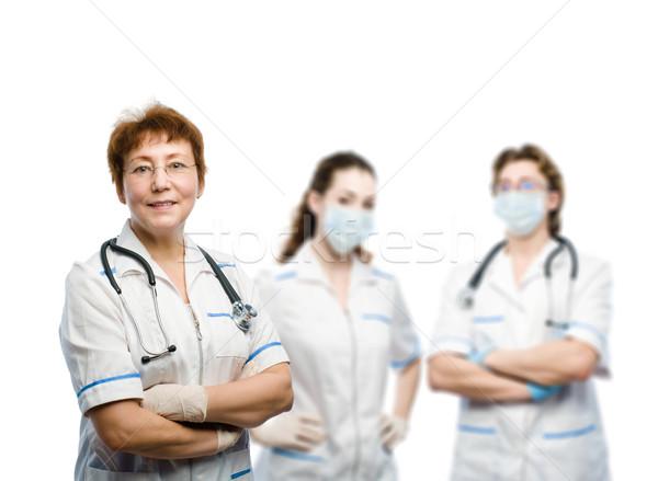 Médico grupo médicos blanco médicos medicina Foto stock © choreograph
