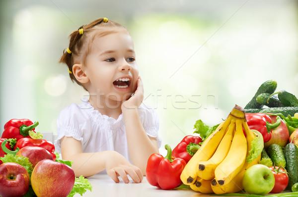 食べ 新鮮果物 美少女 食品 笑顔 幸せ ストックフォト © choreograph