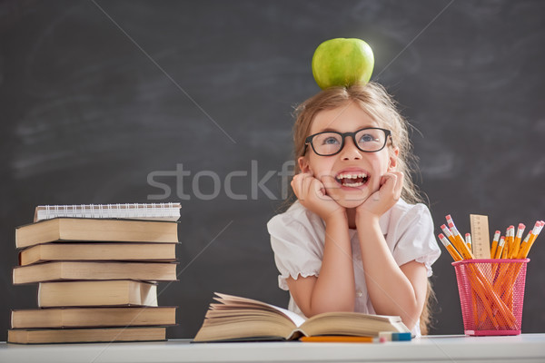 Child is learning to read Stock photo © choreograph