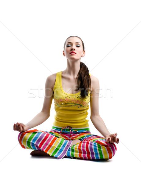 lotus pose Stock photo © choreograph