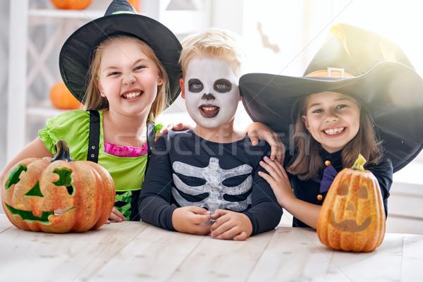 Сток-фото: детей · Хэллоуин · счастливым · брат · два