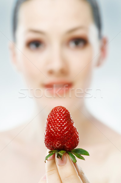 fresh strawberry Stock photo © choreograph
