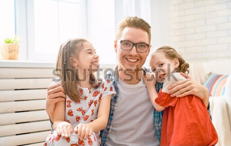 Performances marionnette théâtre heureux affectueux famille Photo stock © choreograph