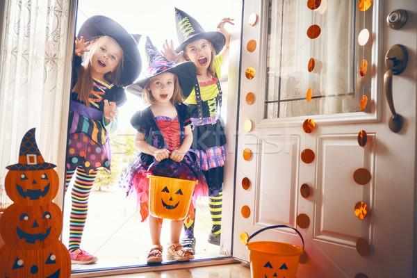 children on Halloween Stock photo © choreograph