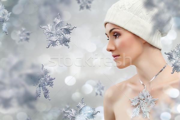 snowflake girl Stock photo © choreograph