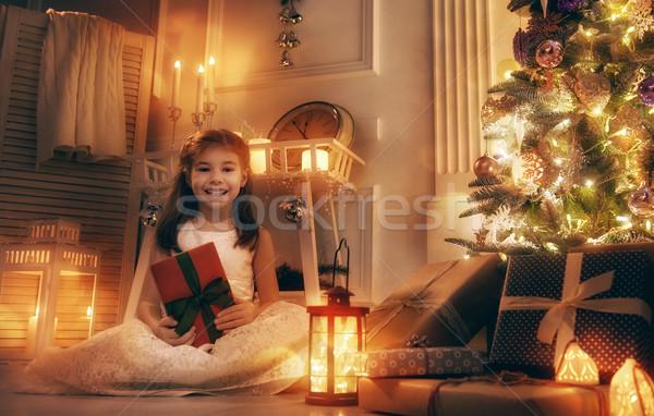 girl with present Stock photo © choreograph
