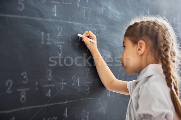 çocuk tahta sert gün okul sevimli Stok fotoğraf © choreograph