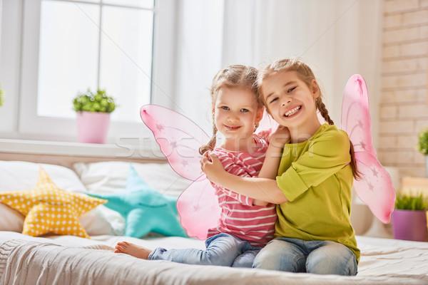 girls playing and having fun Stock photo © choreograph