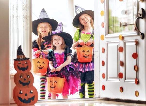детей Хэллоуин счастливым три Cute мало Сток-фото © choreograph
