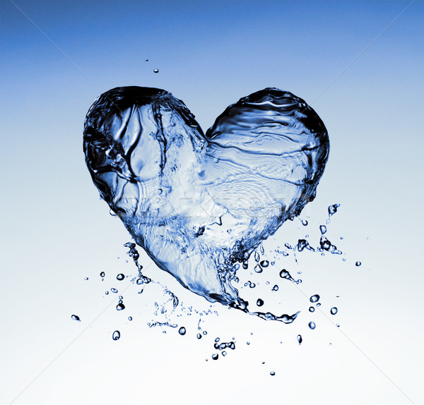 Eau symbole transparent bleu amour coeur Photo stock © choreograph