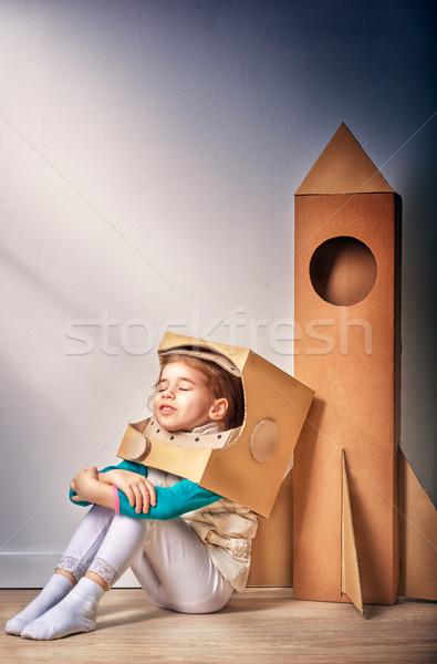 宇宙飛行士 子 衣装 笑顔 スーツ 小さな ストックフォト © choreograph