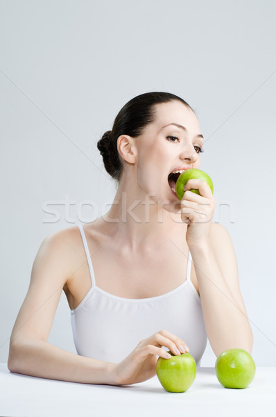 Mangiare sano alimentare bella snello ragazza sorriso Foto d'archivio © choreograph