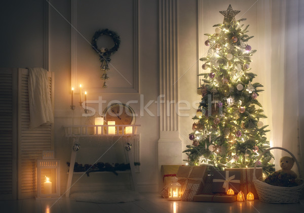 room decorated for Christmas Stock photo © choreograph