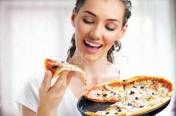 delicious pizza Stock photo © choreograph