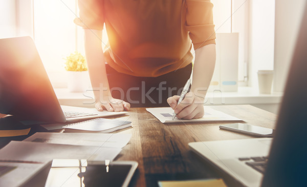 business woman signing documents Stock photo © choreograph
