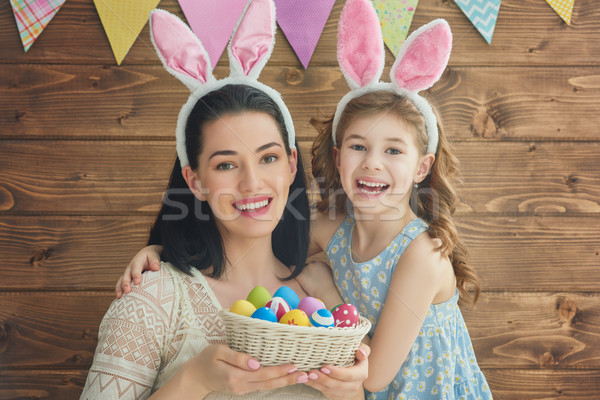 family celebrate Easter Stock photo © choreograph