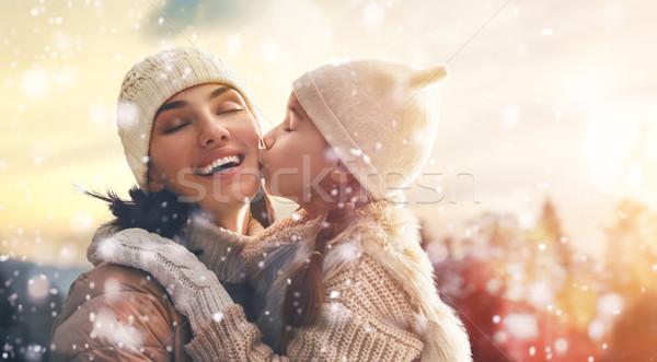 семьи зимний сезон счастливым любящий матери ребенка Сток-фото © choreograph