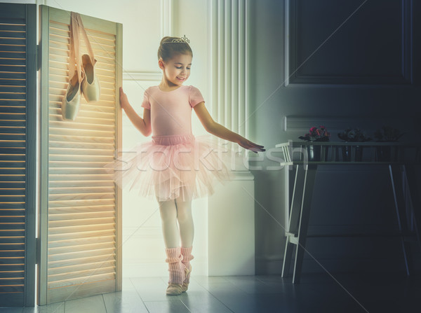 girl in a pink tutu Stock photo © choreograph