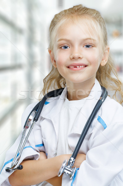 Stock photo: happy doctor