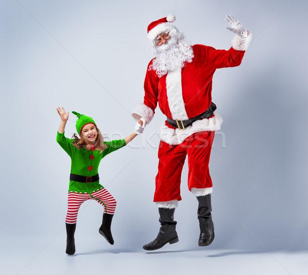 Papá noel elfo baile danza Foto stock © choreograph