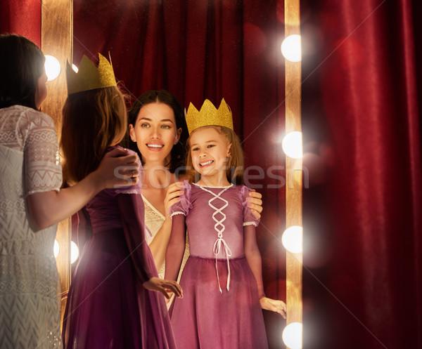 Sevimli küçük aktris genç anne kız Stok fotoğraf © choreograph