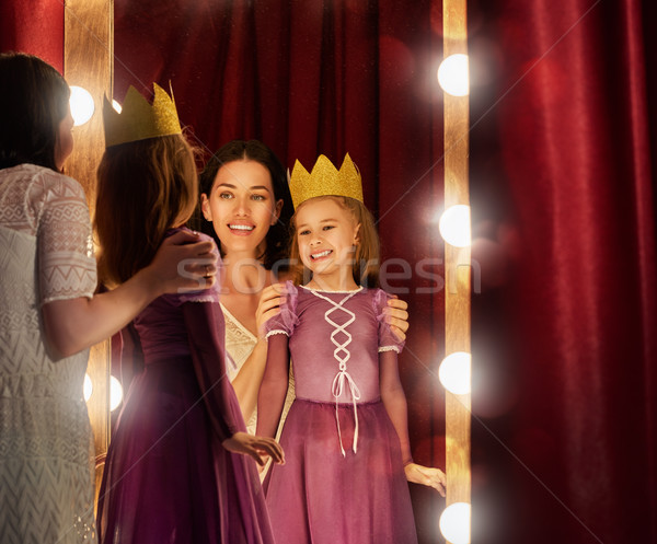 Cute мало актриса молодые матери дочь Сток-фото © choreograph
