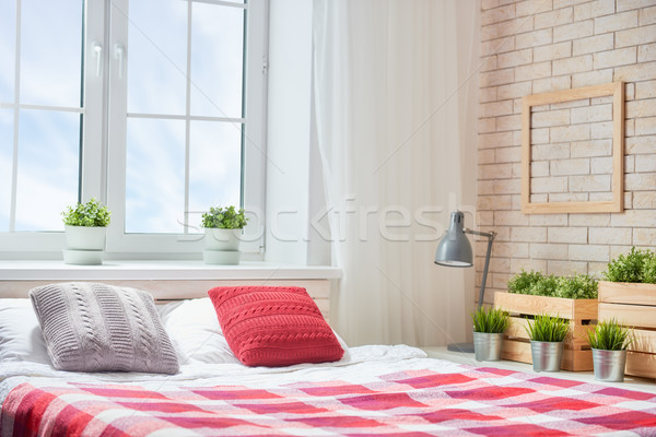 Bedroom in bright colors. Stock photo © choreograph