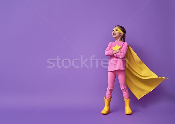 child is playing superhero Stock photo © choreograph