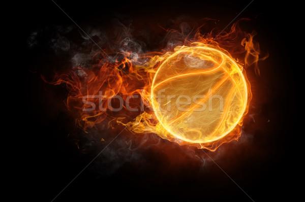 Foto d'archivio: Simbolo · luminoso · nero · fuoco · basket · arte