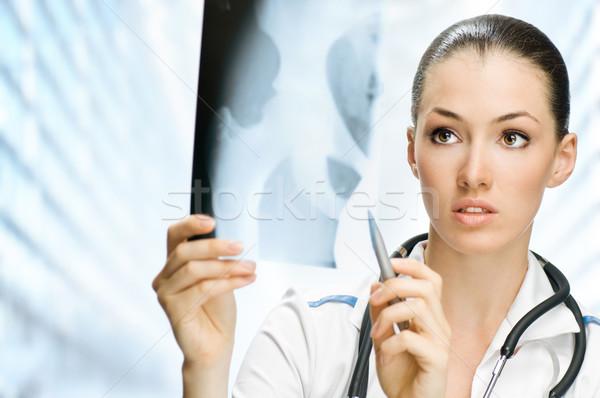 Médecin jeunes réussi hôpital chambre femme Photo stock © choreograph