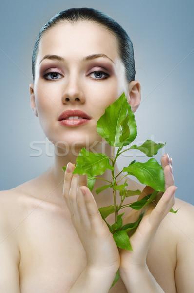 Сток-фото: красоту · портрет · девушки · синий · женщины · природы