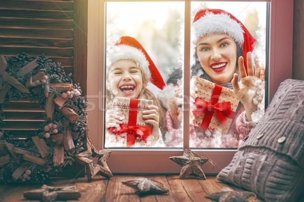 Family enjoying Christmas Stock photo © choreograph