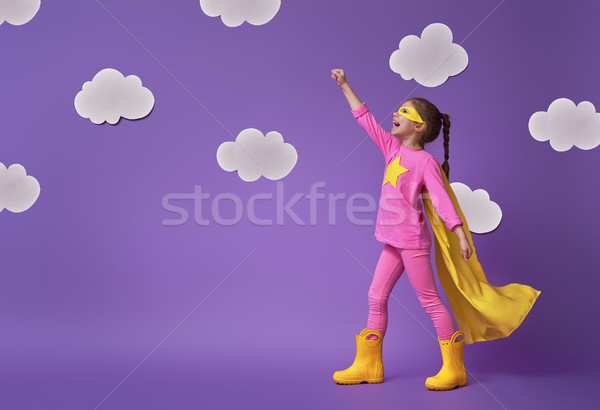 child is playing superhero Stock photo © choreograph