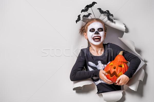 ребенка Хэллоуин счастливым Cute мало смеясь Сток-фото © choreograph