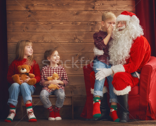 kids and Santa Claus Stock photo © choreograph