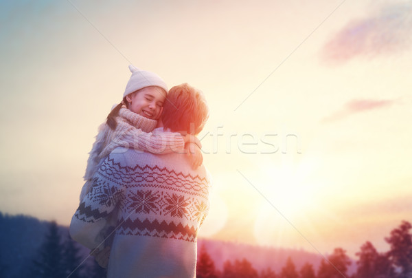Stock photo: family and winter season