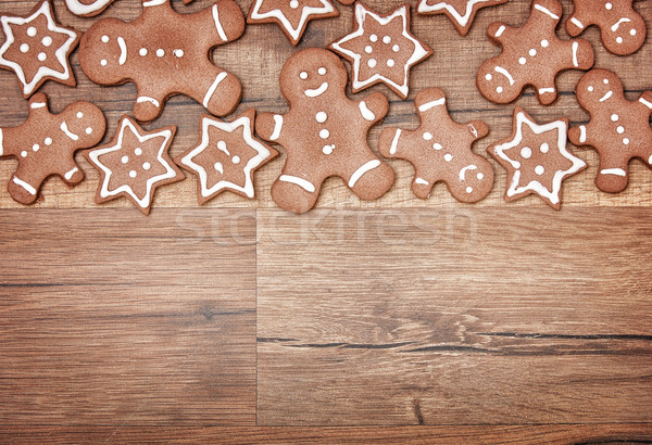 Christmas biscuits, gingerbread Stock photo © choreograph