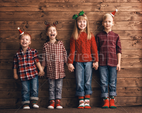cute little kids Stock photo © choreograph