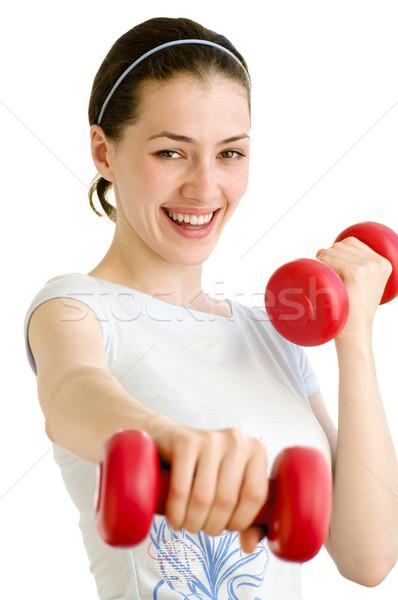 Sportu młoda dziewczyna ciało zdrowia piękna klub Zdjęcia stock © choreograph