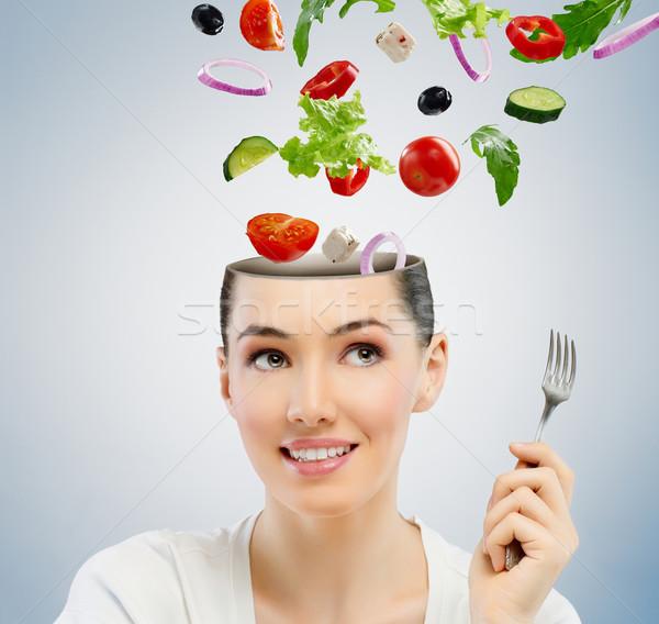 Mangiare sano alimentare bella ragazza donna bellezza ritratto Foto d'archivio © choreograph