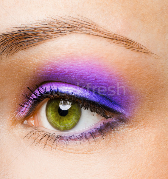 Belleza ojo macro imagen hombre luz Foto stock © choreograph