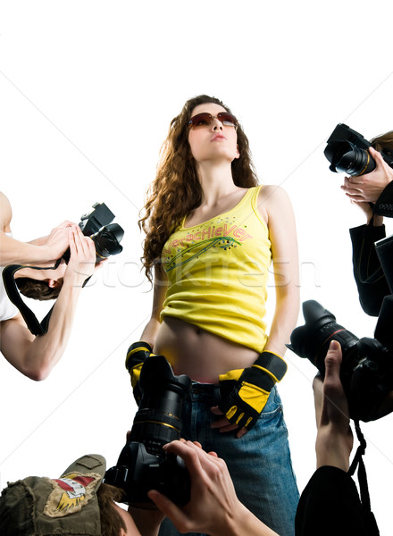 Filme estrela quadro cabelo beleza Foto stock © choreograph