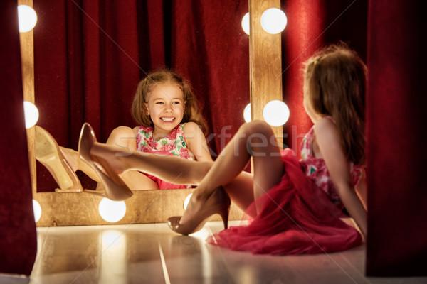 かわいい ファッショニスタ 幸せ 子 少女 ストックフォト © choreograph