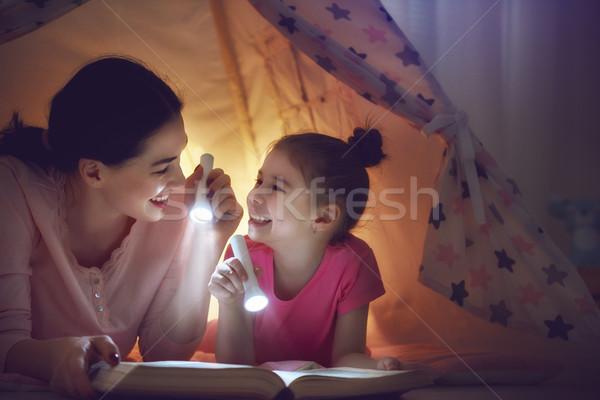 Family bedtime Stock photo © choreograph