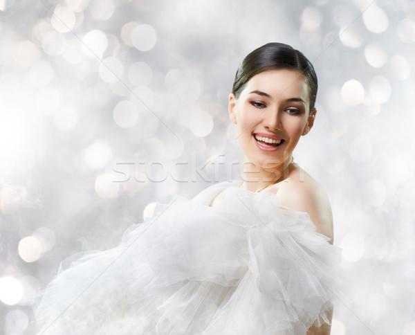 Egészséges nő portré gyönyörű nő nő haj portré Stock fotó © choreograph