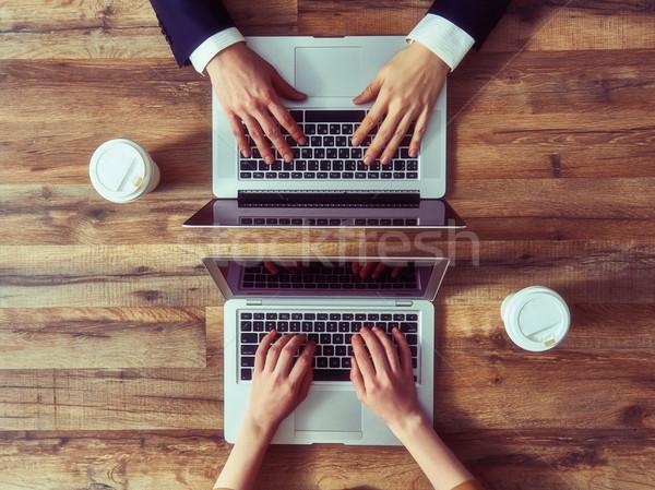man and woman working Stock photo © choreograph