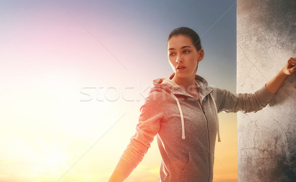 woman running in the nature Stock photo © choreograph