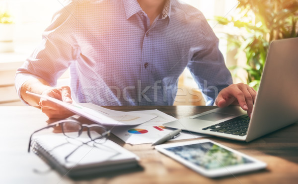man working in office Stock photo © choreograph