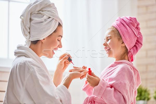 Mãe filha feliz amoroso família Foto stock © choreograph